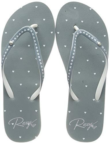Roxy Damen Portofino - Flip-Flops for Women Zehentrenner, Grau (Grey Ash Gra), 42 EU