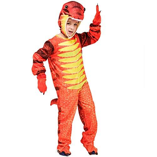Costume da Dinosauro per Bambini Costume in Maschera (Triceratopo / Tirannosauro / Stegosauro) (S:4-6 Anni, Stegosaurus)