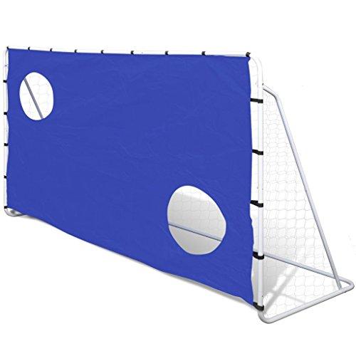 Baliza de Futebol com Tela Pontaria, Aço, 240 X 92 150 cm