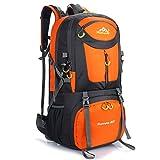 LiGG LiGG Wanderrucksack 60L Trekkingrucksack Leichte Reiserucksack Backpacker Rucksack Wasserdicht Rucksack mit Regenschutz für Reisen Klettern Sport Outdoor Camping,Orange
