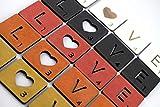 Letras tipo juego Scrabble personalizadas de madera de color para decoración pared o habitación