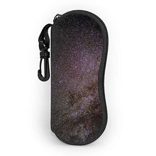 milky-way starry sky star galaxies Sunglasses Eyeglass Neoprene Case with Belt Clip Ultra Portable Zipper