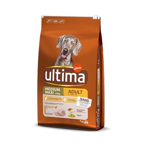 Ultima Croquettes pour Chien Medium-Maxi Adulte Poulet/Riz - 7 kg