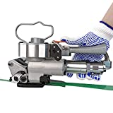 SDLOOL Pneumatic Steel Strapping Tool, A19 Poly Handheld Band Strapper Banding Kit Machine for PP...