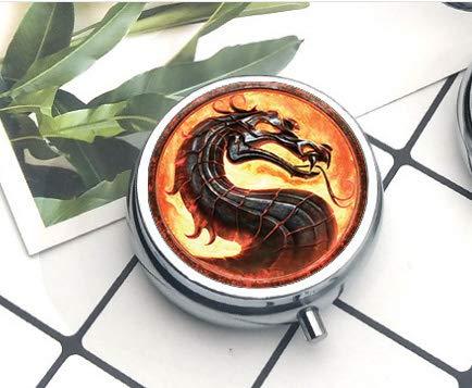 bab Dragón Collares Mortal Kombat Colgantes de Cristal cúpula Joyas Que Brilla...