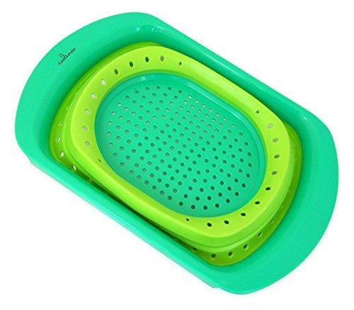 Culina Passoire pliable pour évier - Verte - 40,6 x 27,9 cm