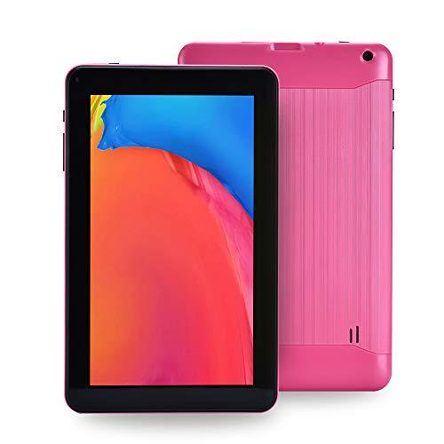 Haehne 9 Pollici Tablet PC, Google Android 6.0 Quad Core, 1.3GHz, 1GB RAM 16GB ROM, Doppia Fotocamera, WiFi, Bluetooth, per Bambini e Adulti, Rosa