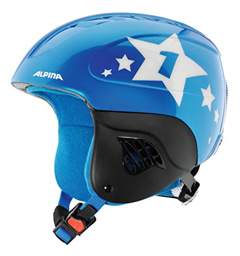 ALPINA Kinder Carat Skihelm, Blue-Star, 51-55 cm