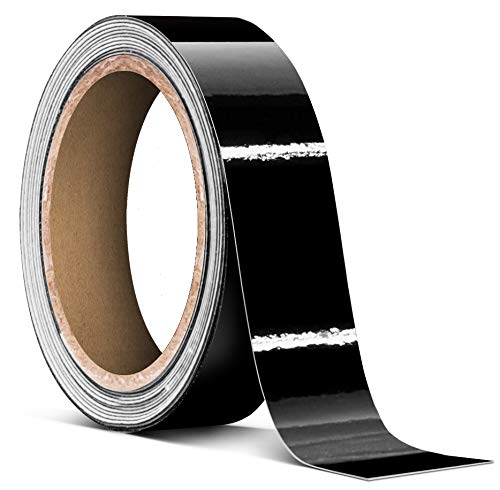 VViViD 3M Black Gloss Vinyl Detailing Wrap Pinstriping Tape Roll (1' x 20ft roll)