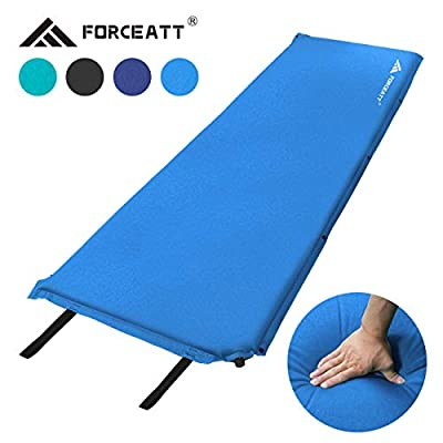 Forceatt Camping Sleeping Pad,Self Inflating - 3.2 Inches Thick Lightweight Camping Pad and Non-Slip Particles on The Back Ideal for Backpacking and Camping. (5.1-Sky Blue)