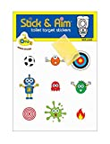 New Kids Pack Toilet Target Stickers for Potty Training/Toilet Training Boys with Sticker Applicator Tool - Sticks on Wet Surface