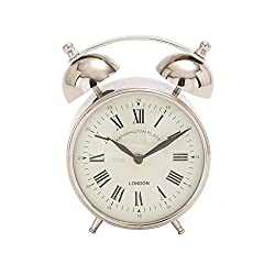 Deco 79 27888 Stainless Steel Table Clock, 5 x 7