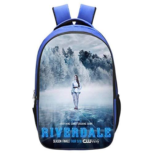 Riverdale, zaino per bambini, creativo, con stampa innovativa, comodo e durevole, River3 (Nero) - SD351S-UJ