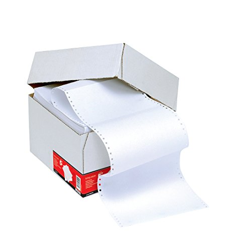 5 Star Office endlos Druckerpapier perforiert 2000 Blatt pro Box 70g/m2 30,5cm x 23,5cm unbedruckt (1 Box)