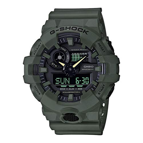 Casio G-SHOCK Orologio 20 BAR, Verde, Analogico - Digitale, Uomo, GA-700UC-3AER