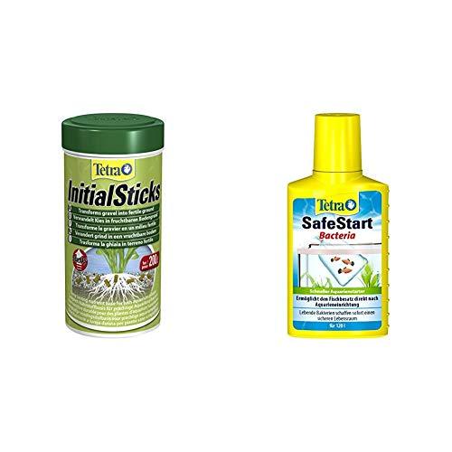 Tetra Initial Sticks Düngestäbchen verwandeln Kies in fruchtbaren Bodengrund, 250 ml Dose & SafeStart Aquarienstarter, 100 ml Flasche