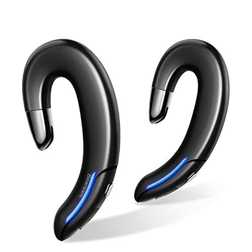 【進化版 bluetooth 5.1】 耳掛け式イヤホン bluetooth イヤホン ランニング イヤホン 落ちない ワイヤレスイヤホン Bluetooth ヘッドセット 高音質 軽量 5時間連続再生 左右独立 通話可能 イヤホン マイク ノイズキャンセリング ブルートゥースイヤホン 自動ペアリング IPX7防水 音量調整 運転 テレワーク 通勤通学 ランニング ジム適応 日本語取扱説明書 母の日のプレゼント 父の日のプレゼント Bearoam (ブラック)