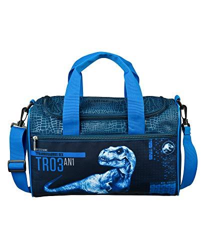 Scooli JURP7252 - Sporttasche für Kinder mit Hauptfach und Fronttasche, Jurassic World, für Sport und Reisen, ca. 16 x 35 x 23 cm, ca. 8 Liter