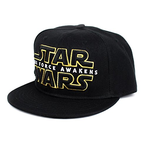 Star Wars 7 Messieurs Snapback Casquette Logo – The Force Awakens Baseball Casquette Noir/Or