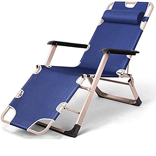 AMAFS Silla Relajante, sillón reclinable Plegable de Tubo Cuadrado ensanchado, Silla de jardín de Gravedad Cero, sillón reclinable ergonómico para balcón al Aire Libre Beautiful Home