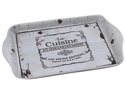 Chic Antique Tablett La Cuisine Shabby Vintage 21 x 14 cm