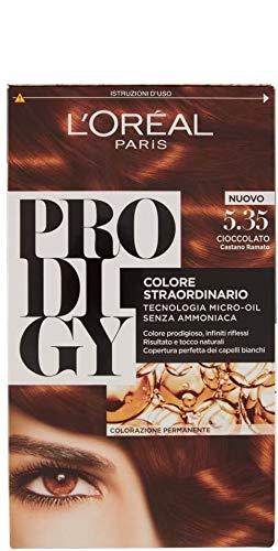 L Oréal Paris Colorazione Permanente per Capelli Prodigy, 5.35 Castano Ramato Cioccolato