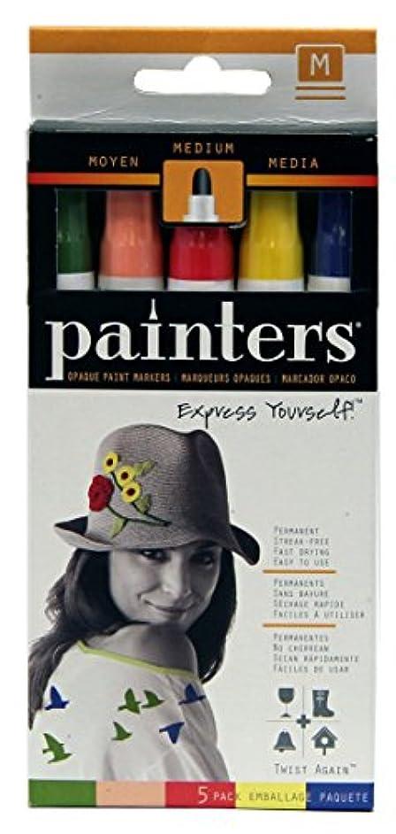 Elmer's Painters Opaque Paint Markers, Medium Point, Retro Twist Colors, 5 Count
