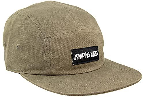 Jumping Bird 5 Panel Cap für Skater und Surfer Unisex Bristen • Baseball Cap für Damen & Herren • Individuell verstellbar und leicht abwaschbar