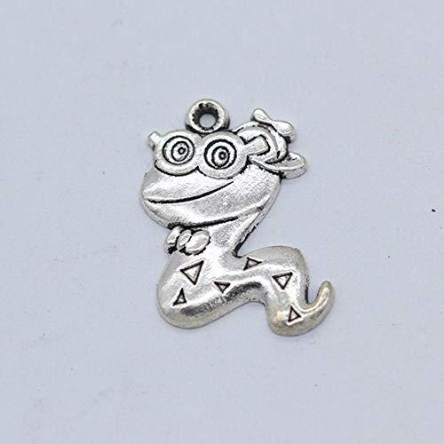 Colgante de plata tibetana tallada del zodiaco chino tibetano con filigranas y símbolo de animales, compatible con pulseras y collares