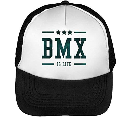 BMX Is Life Gorras Hombre Snapback Beisbol Negro Blanco One Size