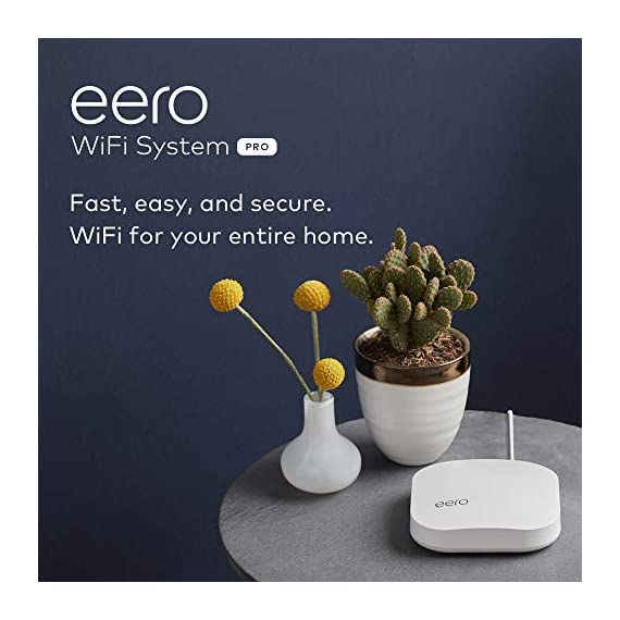 Amazon eero Pro mesh WiFi system (1 Pro + 2 Beacons) 16 Whole-home WiFi system - The Amazon eero Pro mesh WiFi system (3 eero Pros) replaces the traditional WiFi router, WiFi extender, and internet booster by covering a 5+ bedroom home with fast and reliable internet powered by a mesh network. eero 2nd generation - With the most intelligent mesh WiFi technology and powerful hardware, the eero 2nd generation WiFi system is 2x as fast as the original eero WiFi. Backwards compatible with 1st generation eero products. Cutting edge home WiFi - Unlike the common internet routers and wireless access points, eero automatically updates once a month, always keeping your home WiFi system on the cutting edge.