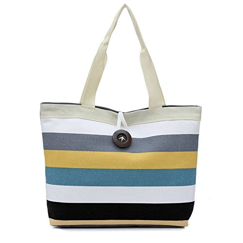 FORUU Bags, 2020 Best Gift For Mother Lover Girlfriend Wife Trendy Stylish Unisex Lady Colored stripes Shopping Handbag Shoulder Canvas Bag Tote Purse KH