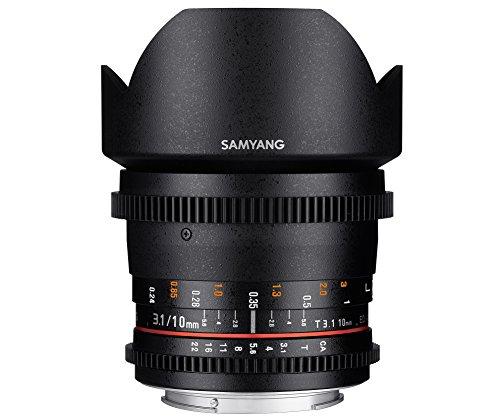 Samyang 10mm T3.1 ED AS NCS CS VDSLR - Objetivo (SLR, 14/9, Ultra-Ancha, Pentax K, Pentax, Negro)