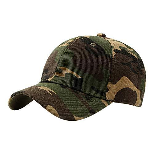 Fablcrew Homme Casquette de Camouflage de Style Militaire Casquette de Baseball Réglable pour Les Activités de Plein Air Escalade Chasse Pêche