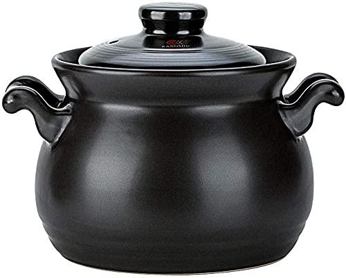Cocinar Olla ollas de Cocina - Casserole de Gran Capacidad Estilo japonés Pote de Sopa Alta Temperatura Resistente al estofado Pot Porridge Sopa Pot-3 0L Amazing
