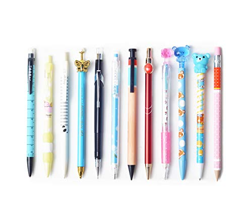 SKKSTATIONERY 12 PCS Mechanical Pencils Set, Cute Cartoon Favor, 12 Different Styles Assorted