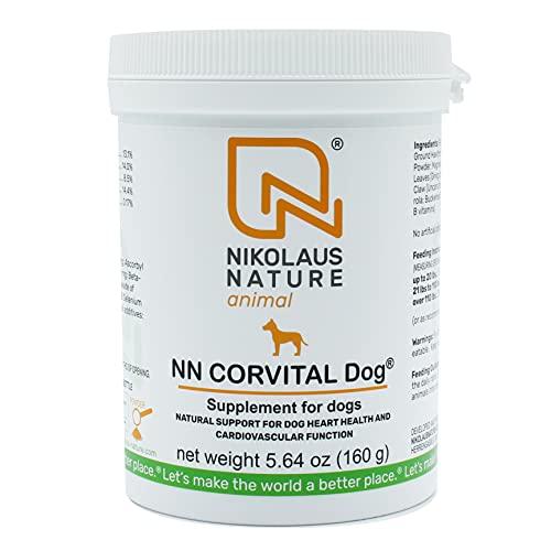 Ortho Vet Corvital Dog Nahrungsergänzung für Hunde, für Vitalität im Alter und bei Herz- Kreislaufproblemen, Probleme mit der Hitze, Pulver 160g