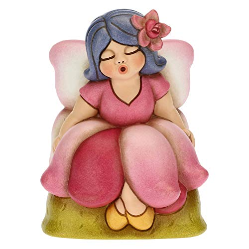 THUN ® - Fata Rosa Media - Ceramica - h 13 cm - Linea I Classici