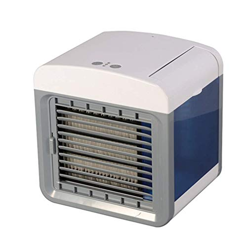 CHUTD Mini Aire Acondicionado, purificador móvil, deshumidificador USB, evaporativo, Compacto, 3 velocidades de Ventilador, 7 Colores, Luces LED, Oficina, Espacio Personal al Aire Libre, escritori