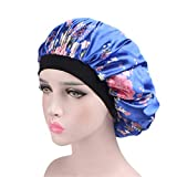 Gorra de Dormir Gorro de Dormir de satén Suave Salon Bonnet Sombrero de Noche Pérdida del Cabello Chemo Caps para Mujeres para Mujer niña durmiendo (Color : C1)