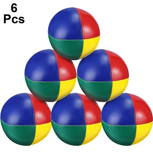 Tatuo 6 Pieces Juggling Balls Set, Quality Mini Juggling Balls, Durable Juggle Ball Kit, Soft Juggle Balls (Multicolored)