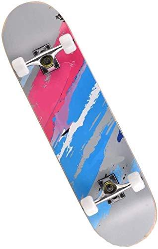 Skateboard Brush Straat Longboard Outdoor Sport Speelgoed Beginner Double-opwaartse Road Skateboard Skateboard Straat Aktie Ervaring Wheel soepel blijft aijia (Color : Gray)