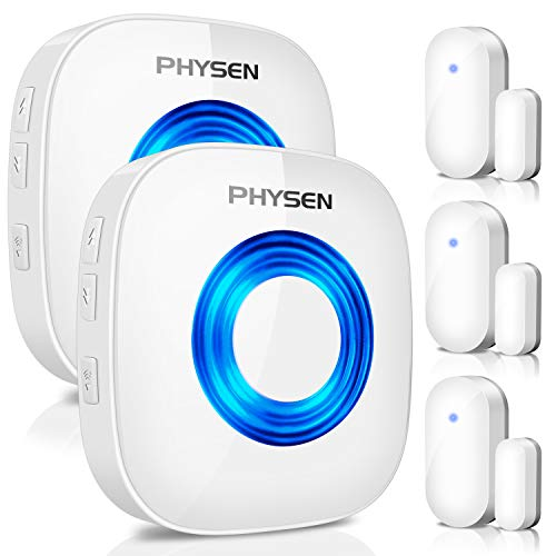 PHYSEN Wireless Door Chime Window Alarm CW-3TW Door Alarm Sensor