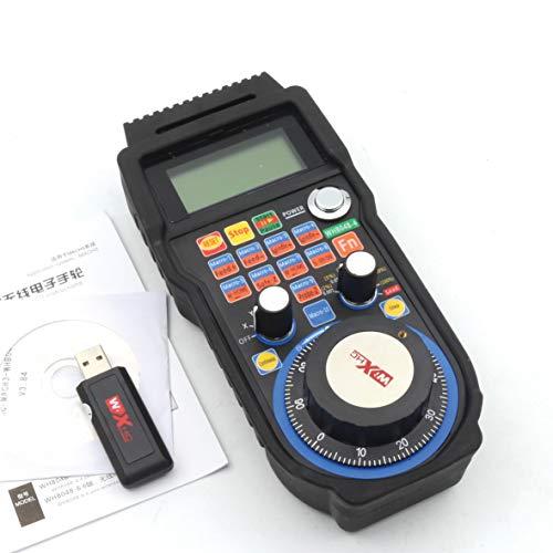 RATTMMOTOR – 4 ejes Mach3 inalámbrico, mando a distancia, mando a distancia CNC, generador de impulsos manual para torno CNC (WHB04B)