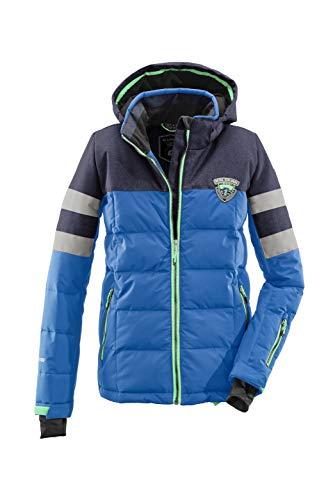 Killtec Skijacke Jungen Knox Jr - Winterjacke Kinder in Daunenoptik - Jungenjacke mit Kapuze und Schneefang - Wassersäule 10.000 mm, dunkelblau, 176