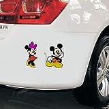 Mickey mouse et Minnie mouse Disney personnages de dessins animés voiture camion ordinateur portable macbook vinyle autocollant autocollant minnie mouse voiture accessoires