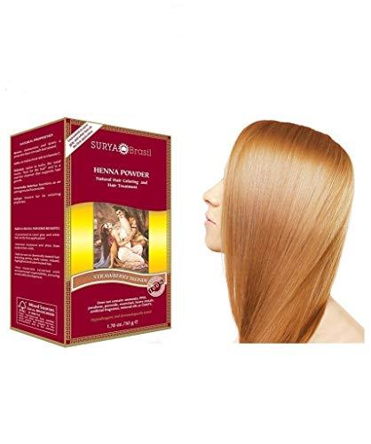 Surya Henna, Natural Hair Coloring und Hair Treatment Powder, Strawberry Blonde, 1,76 Unzen (50 g)