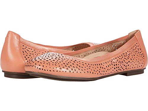 Vionic Women's Spark Robyn Perf Ballet Flat - Ladies Dress Everyday Flats with Concealed Orthotic Arch Support Blooming Dahlia 6.5 Medium US