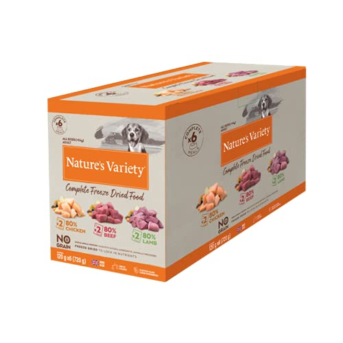 Nature's Variety Multipack Freeze Dried Dinners for Dogs 6x 120g