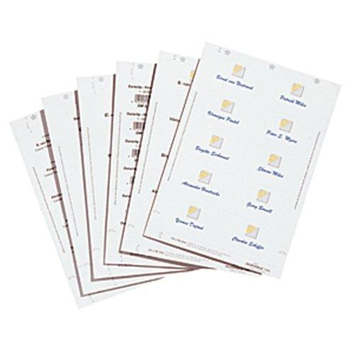 Insteekbord wit, DIN A4, zelfklevend papier, 6 x 9 cm